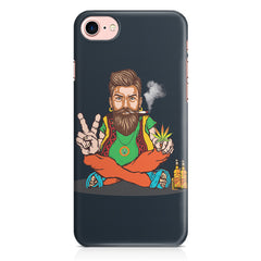 Beard guy smoking sitting design Apple Iphone 7 printed back cover