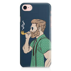 Pipe smoking beard guy design Apple Iphone 7 printed back cover
