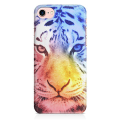 Colourful Tiger Design Iphone 8 hard plastic printed back cover.