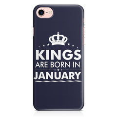 Kings are born in January design Iphone 8 all side printed hard back cover by Motivate box Iphone 8 hard plastic printed back cover.