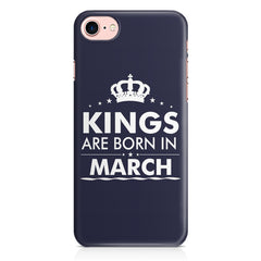 Kings are born in March design Iphone 8 all side printed hard back cover by Motivate box Iphone 8 hard plastic printed back cover.