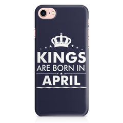 Kings are born in April design Iphone 8 all side printed hard back cover by Motivate box Iphone 8 hard plastic printed back cover.