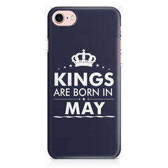 Kings are born in May design Iphone 8 all side printed hard back cover by Motivate box Iphone 8 hard plastic printed back cover.