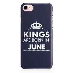Kings are born in June design Iphone 8 all side printed hard back cover by Motivate box Iphone 8 hard plastic printed back cover.