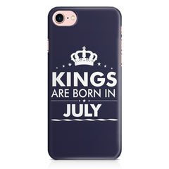 Kings are born in July design Iphone 8 all side printed hard back cover by Motivate box Iphone 8 hard plastic printed back cover.