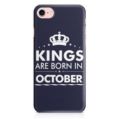 Kings are born in October design Iphone 8 all side printed hard back cover by Motivate box Iphone 8 hard plastic printed back cover.