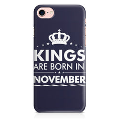 Kings are born in November design Iphone 8 all side printed hard back cover by Motivate box Iphone 8 hard plastic printed back cover.