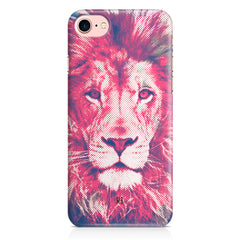 Zoomed pixel look of Lion design Iphone 8 hard plastic printed back cover.