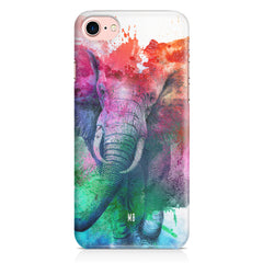 colourful portrait of Elephant Iphone 8 hard plastic printed back cover.