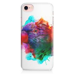 Colourful parrot design Iphone 8 hard plastic printed back cover.