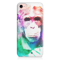 Colourful Monkey portrait Iphone 8 hard plastic printed back cover.