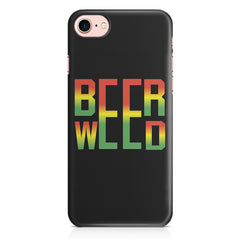 Beer Weed Iphone 8 hard plastic printed back cover.