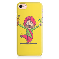 Sardar dancing with Beer and Marijuana  Iphone 8 hard plastic printed back cover.