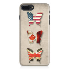Butterfly in country flag colors Apple Iphone 7 Plus  printed back cover