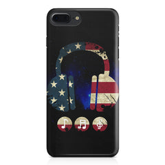America tunes Blue sprayed  Apple Iphone 7 Plus  printed back cover