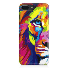 Colourfully Painted Lion design,  Apple Iphone 7 Plus  printed back cover