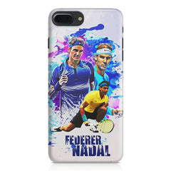 Federer and Nadal Oil Fanart design,  Apple Iphone 7 Plus  printed back cover
