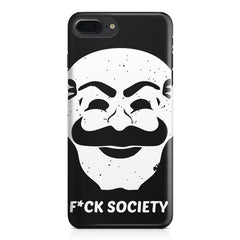 Fuck society design Apple Iphone 7 Plus  printed back cover