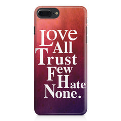 Inspirational quotes design Apple Iphone 7 Plus  printed back cover
