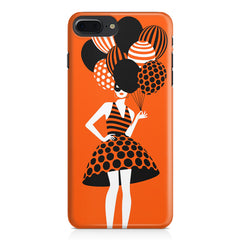 Girl and the balloons design, Apple Iphone 7 Plus  printed back cover