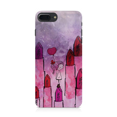 Girl with lipsticks sketch design Apple Iphone 8 plus printed back cover