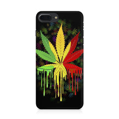 Marihuana colour contrasting pattern design Apple Iphone 8 plus printed back cover