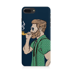Pipe smoking beard guy design Apple Iphone 8 plus printed back cover