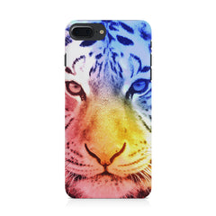 Colourful Tiger Design Iphone 8 plus hard plastic printed back cover.