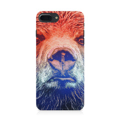 Zoomed Bear Design  Iphone 8 plus hard plastic printed back cover.