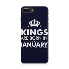 Kings are born in January design Iphone 8 plus all side printed hard back cover by Motivate box Iphone 8 plus hard plastic printed back cover.
