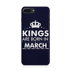 Kings are born in March design Iphone 8 plus all side printed hard back cover by Motivate box Iphone 8 plus hard plastic printed back cover.