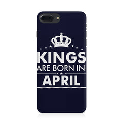 Kings are born in April design Iphone 8 plus all side printed hard back cover by Motivate box Iphone 8 plus hard plastic printed back cover.