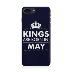 Kings are born in May design Iphone 8 plus all side printed hard back cover by Motivate box Iphone 8 plus hard plastic printed back cover.