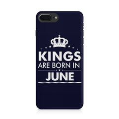 Kings are born in June design Iphone 8 plus all side printed hard back cover by Motivate box Iphone 8 plus hard plastic printed back cover.