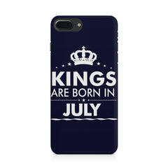 Kings are born in July design Iphone 8 plus all side printed hard back cover by Motivate box Iphone 8 plus hard plastic printed back cover.
