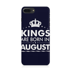 Kings are born in August design Iphone 8 plus all side printed hard back cover by Motivate box Iphone 8 plus hard plastic printed back cover.