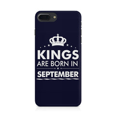 Kings are born in September design Iphone 8 plus all side printed hard back cover by Motivate box Iphone 8 plus hard plastic printed back cover.