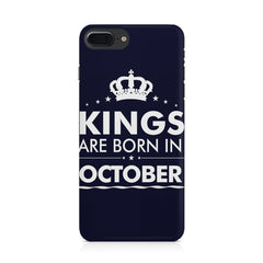 Kings are born in October design Iphone 8 plus all side printed hard back cover by Motivate box Iphone 8 plus hard plastic printed back cover.