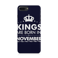 Kings are born in November design Iphone 8 plus all side printed hard back cover by Motivate box Iphone 8 plus hard plastic printed back cover.