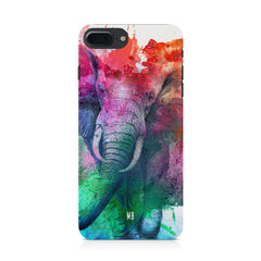 colourful portrait of Elephant Iphone 8 plus hard plastic printed back cover.