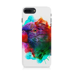 Colourful parrot design Iphone 8 plus hard plastic printed back cover.