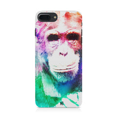 Colourful Monkey portrait Iphone 8 plus hard plastic printed back cover.