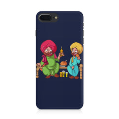 Punjabi sardars with chicken and beer avatar Iphone 8 plus hard plastic printed back cover.