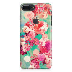 Floral  design,  Apple Iphone 7 plus with Apple cut  printed back cover