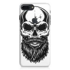 Skull with the beard  design,  Apple Iphone 7 plus with Apple cut  printed back cover