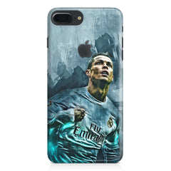 Oil painted ronaldo  design,  Apple Iphone 7 plus with Apple cut  printed back cover