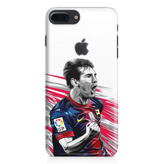 Messi illustration design,  Apple Iphone 7 plus with Apple cut  printed back cover