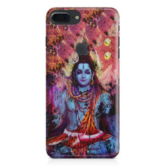 Shiva painted design Apple Iphone 7 plus with Apple cut  printed back cover