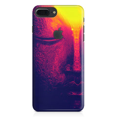 Half red face sculpture  Apple Iphone 7 plus with Apple cut  printed back cover