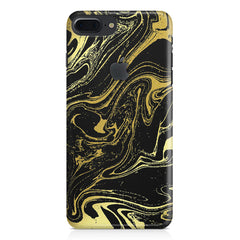 Golden black marble design Apple Iphone 7 plus with Apple cut  printed back cover